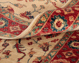 The true quality of such a piece can be seen when observing the back of a handmade rug.