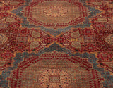 With 2 medallions and multiple motifs, you could stare at this carpet four hours and still find something new.
