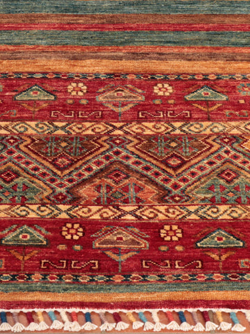 Beautifully unique Afghan Samarkand, finely handcrafted using the naturally dyed wool of native Afghan sheep.