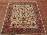 at 5' x 3' approximately, this rug would serve well in a smaller room.