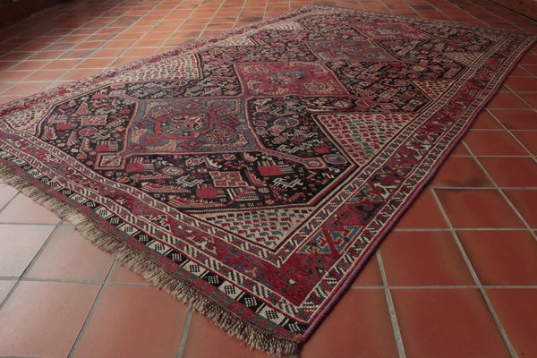 Kashgai rugs are made by tribal nomads, they are old designs which are passed from one generation .