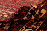 the pile on a Persian rug is usually much longer than the Afghan pieces and the wool very much softer. In this image the barber pole salve edge is clearly visible