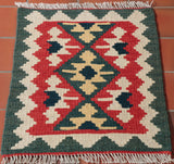 The geometric designs are favoured by the Qashqai weavers.