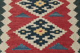 A Kashgai piece woven by a nomadic people using traditional skills handed down through the generations.