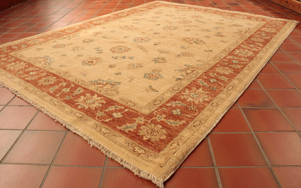 Afghan Ziegler rugs are often used in lighter coloured rooms as to let the muted colours pari with the space easier.