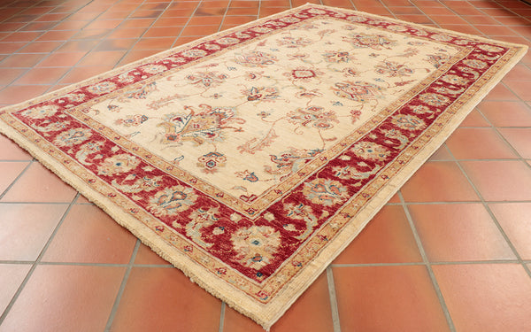 This particular Fine Afghan Ziegler is 152 x 100cm (4'10 x 3'3) in size.