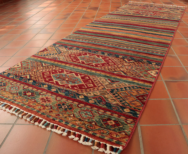 This excellent runner is 244 x 83cm (8'0 x 2'9) in size.