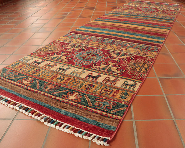 This excellent runner is 258 x 80cm (8'6 x 2'7) in size.