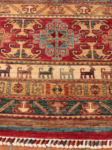 This excellent Afghan Samarkand has been finely hand-knotted using naturally dyed Afghan wool.