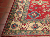 The geometric border designs can be further examined with the assistance of this corner shot.