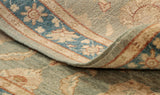 You can determine the fineness of a piece by looking at the back of the rug and taking a look at the reversed design.