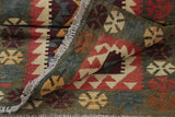 Hand woven in Afghanistan using autumnal colourings in this kilim runner.