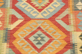 With its bold geometric diamonds, this kilim runner makes a statement.