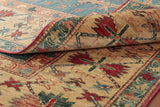 The back of the carpet does illustrate how finely knotted this piece is for a tribal rug
