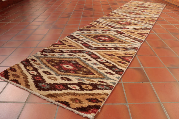 At almost 10 feet long, this runner would be perfect for a hallway with or without light.