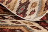 You can see the quality of the piece by looking athe back of the rug, and see the tightness of the weave.