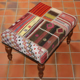 Turkish patchwork kilim stool - 284895