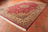This beautiful Kashmir Silk rug is 222 x 159cm (7'3 x 5'3) in size