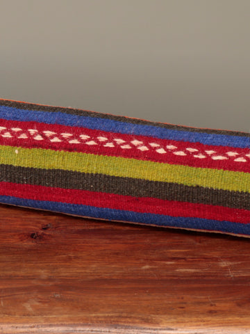 Turkish kilim and leather draught excluder - 285247