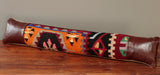 Turkish kilim and leather draught excluder - 285248