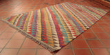 This modernistic kilim is 174 x 120cm (5'8 x 3'11) in size