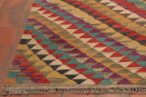 The ever so delicately coloured fringing corresponds expertly with top and bottom edging - blending perfectly and finishing this Kilim