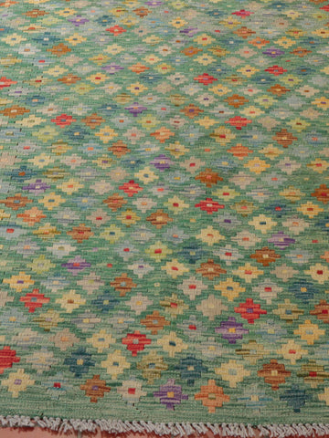 Kilims are flatwoven pieces that have two sides to them
