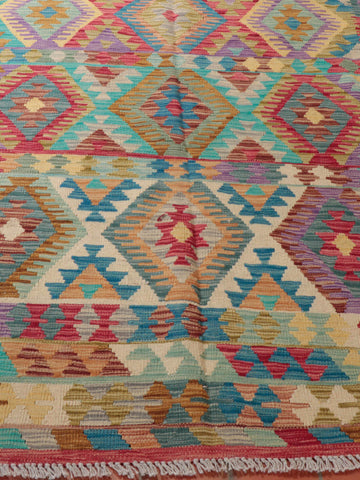 Kilim rugs and runners are a practical alternative to more traditional piled rugs.