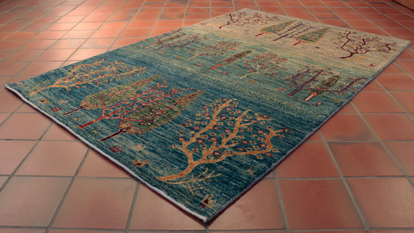The wonderful blend of colours in this Afghan Loribaft rug are simply superb