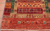 This Afghan Loribaft has a short fringe which is normally the length of Afghan rugs these days