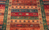 This particular Afghan runner has a lovely amount of symmetry to it