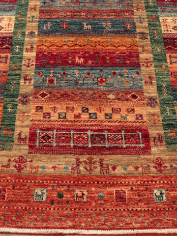 This Afghan Loribaft has a multitude of colours