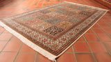 This Kashmir Silk is 181 x 122cm (5'11 x 4') in size