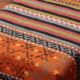 The Kilim that has been used could have been a part of a large carpet or rug before it was salvaged