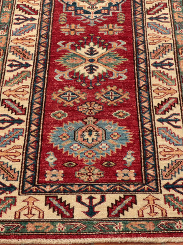 Kazaks often feature strong, vibrant colours and a traditional geometric design