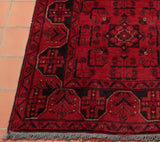 This hand made Afghan runner is made from wool and natural dyes.