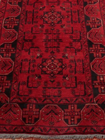 A very traditional red and blue Afghan runner suitable for the hall or landing.