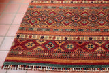 rich colours and hand knotted rugs are often produced in Pakistan, knotted using hand dyed wools.