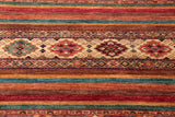 The centre section has a cream ground stripe which is often used in Caucasian pieces.