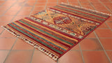 This Fine Afghan Samarkand is 88 x 69cm (2'11 x 2'3) in siz