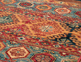 The sky blue in this rug really comes out quite proficiently.
