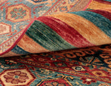 This excellent Samarkand runner has a natural oil called Lanolin, found in the Afghan sheep that the wool comes from