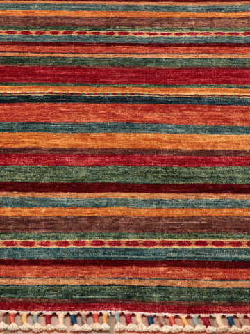 It is the vibrancy of the colours that really speak to you with this rug.