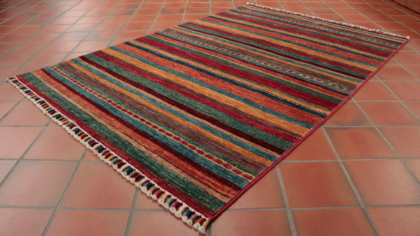 This rug is a bit like Josephs coat of many colours, it is great fun.