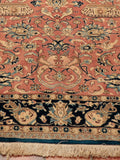 A very fine Persian Qum wool and silk rug.
