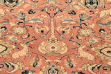 Unusual in terms of colour and design, this Ghom rug will be an interesting piece to own.