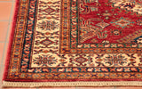 Similar to most Afghan rugs made today, the fringe has been made quite short to appeal more to the current market