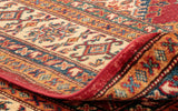 the back of the rug shows almost as much intricacy as the front