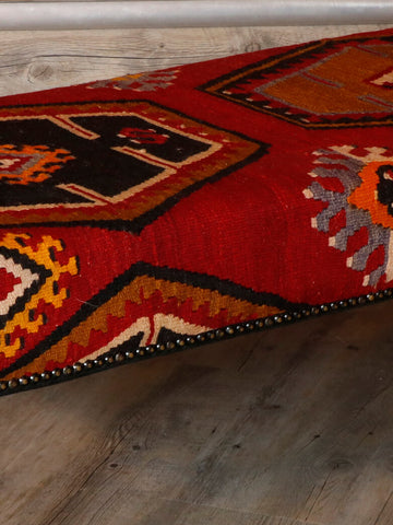 Turkish kilim covered bench stool - 295629