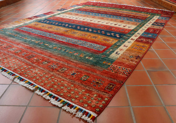 The hombre effect gives the rug additional character